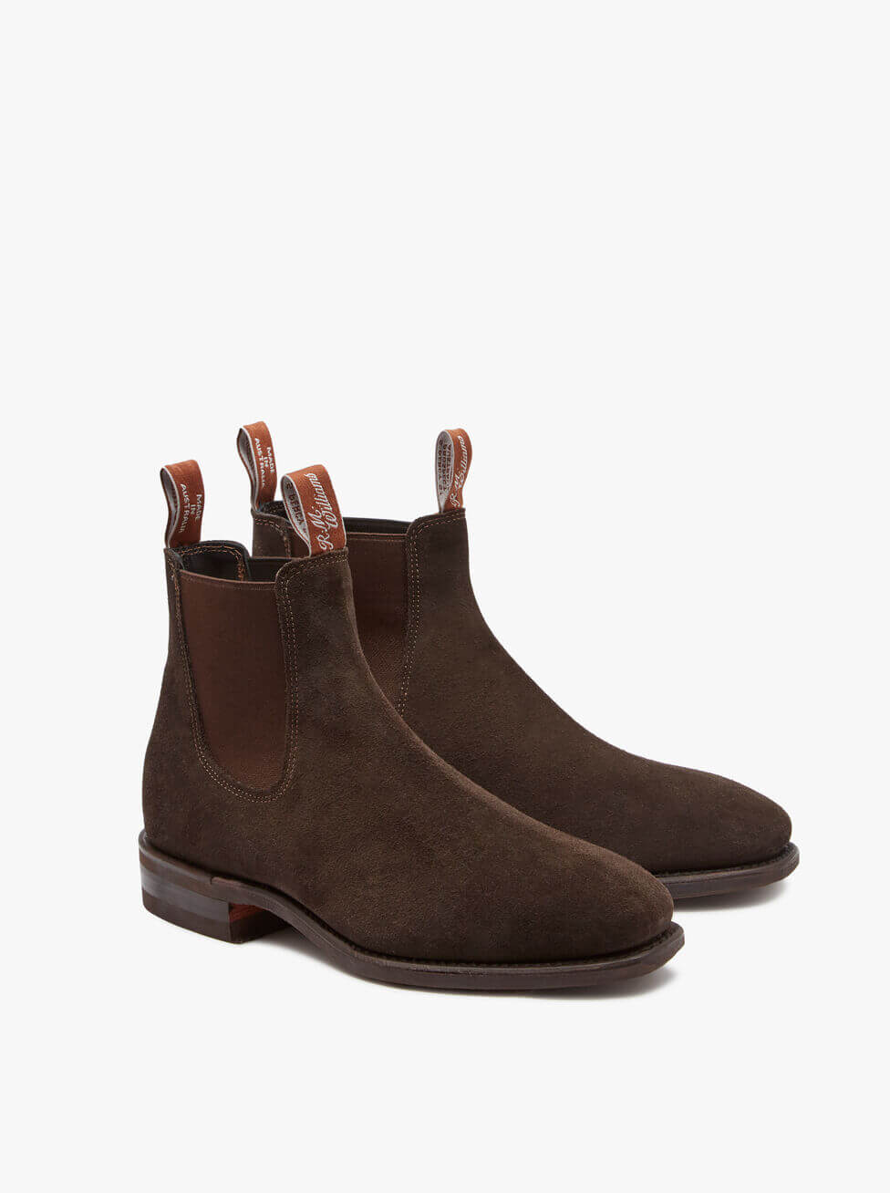 R.M. Williams Chocolate Suede Comfort Craftsman Boot Yearling Leather | Davids Of Haslemere