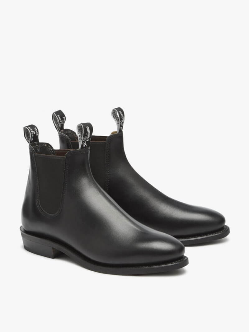R.M. Williams Black Comfort Craftsman Boot Yearling Leather | Davids Of Haslemere