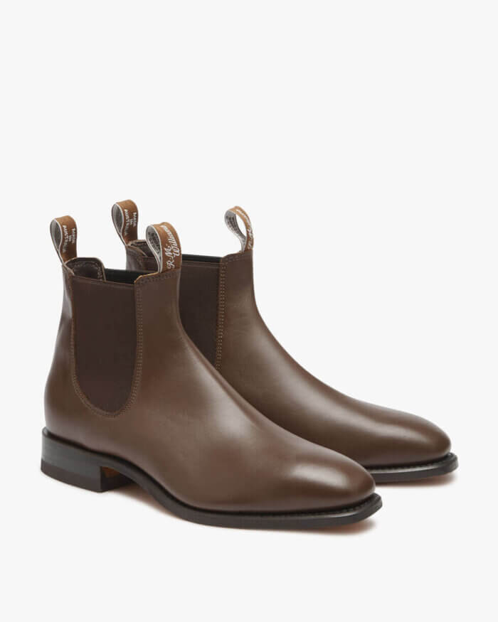 R.M. Williams Dark Tan Craftsman Boot Yearling Leather | Davids Of Haslemere