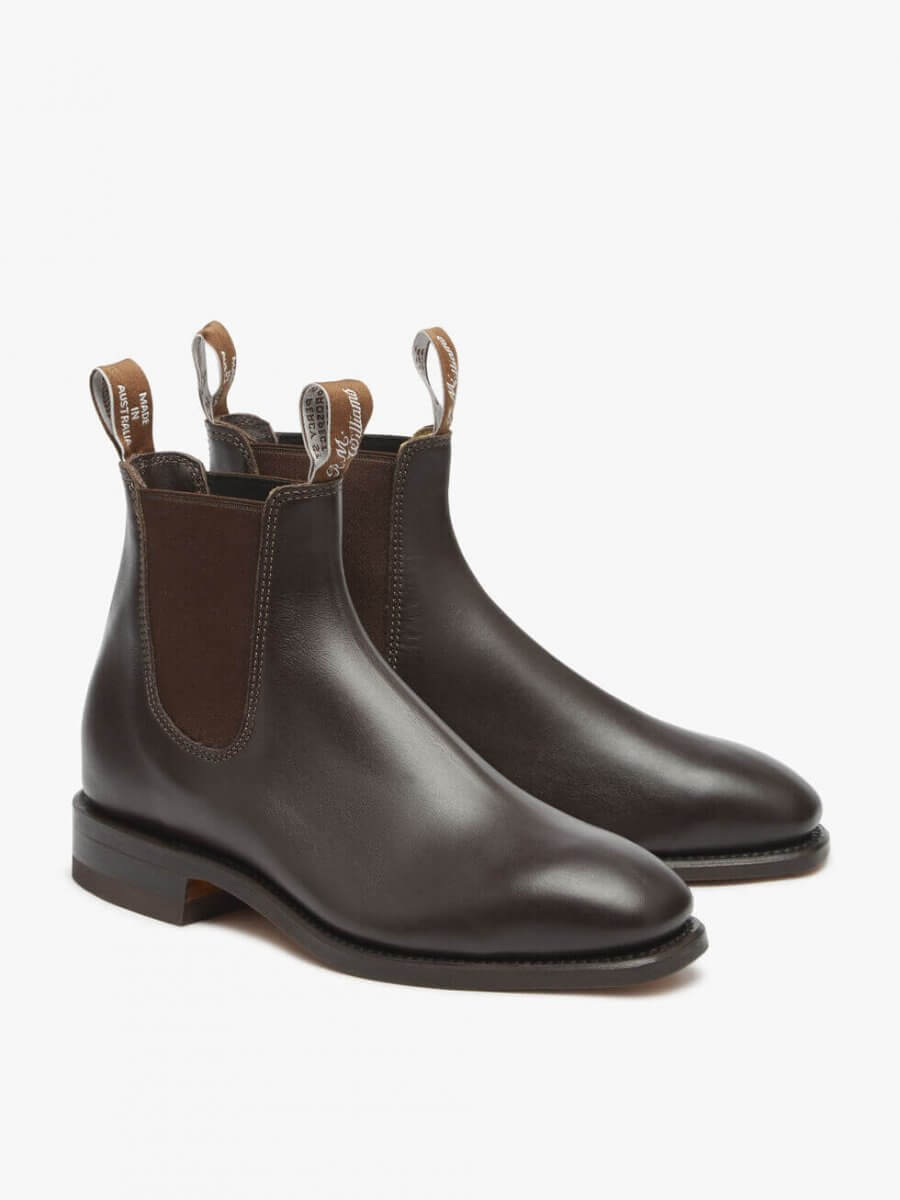 R.M. Williams Chestnut Craftsman Boot Yearling Leather   Davids Of Haslemere