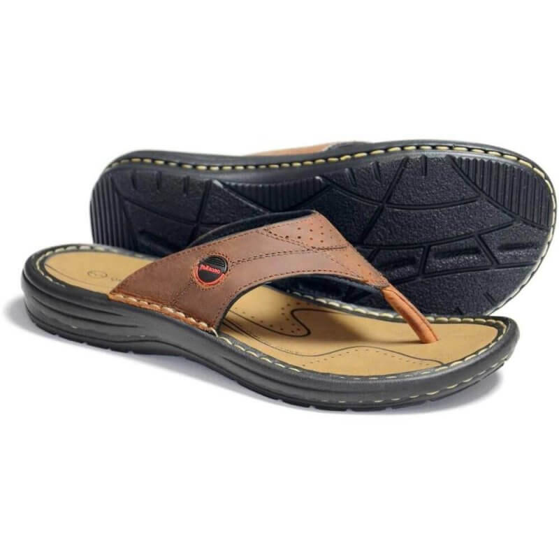 Orca Bay Fiji Mens Leather Sandals Brown | Davids Of Haslemere