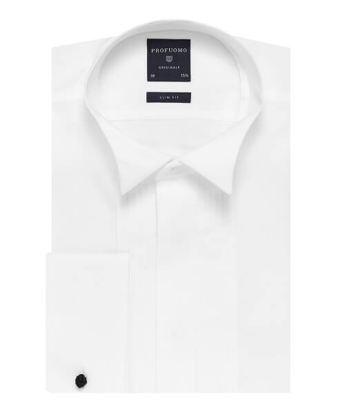 Profuomo Wing Collar and Pin Tucks | Davids Of Haslemere