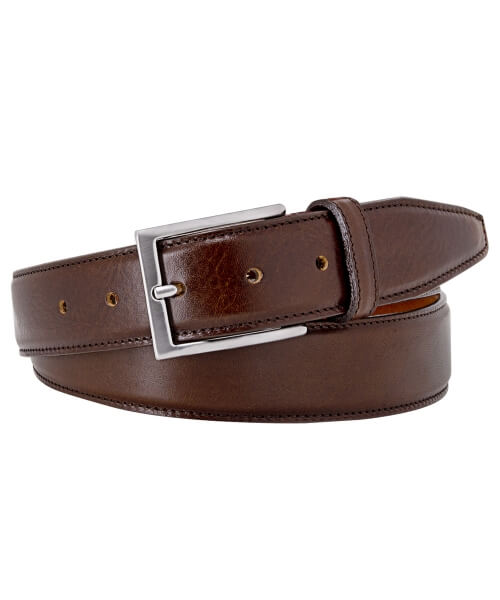 Profuomo Calf Leather Belt Brown | Davids Of Haslemere