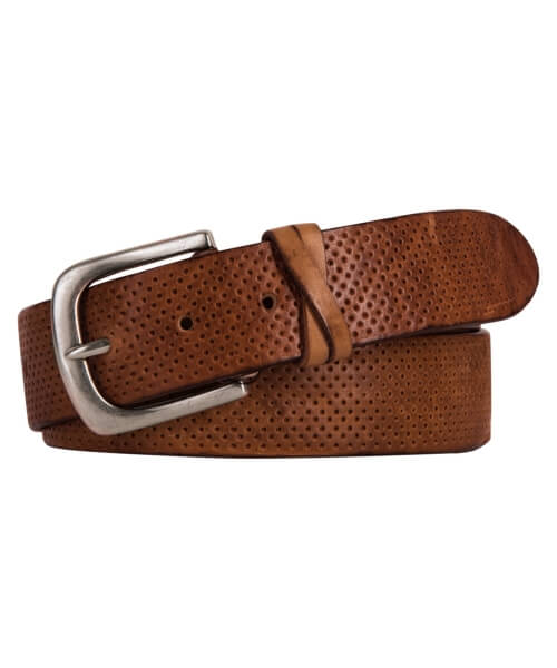 Profuomo Neutral Jeans Leather Belt | Davids Of Haslemere