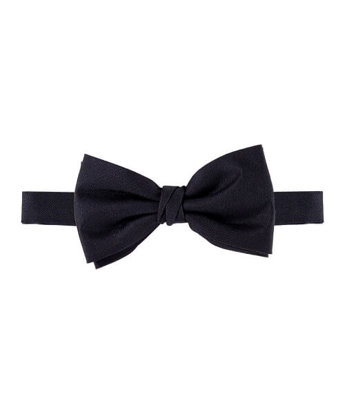 Profuomo Silk Bow Ties Black   Davids Of Haslemere