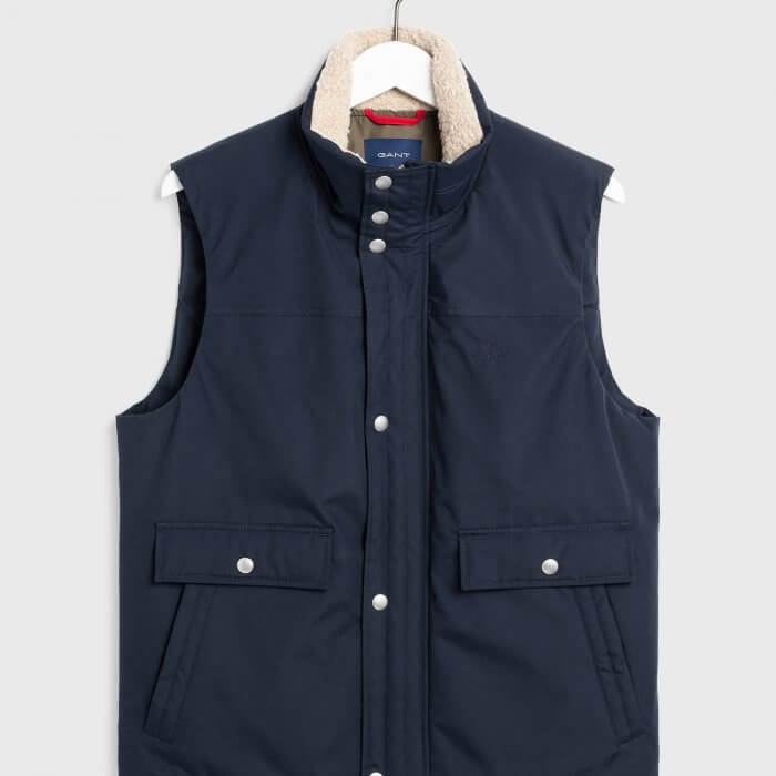 Gant Weekend Vest | Davids Of Haslemere