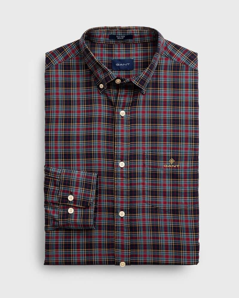 Gant Buttoned-Down Patterned Shirt | Davids Of Haslemere