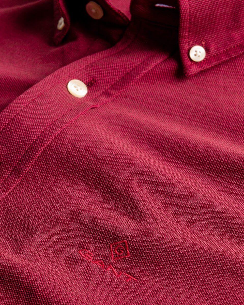 Gant Shirt Maroon | Davids Of Haslemere
