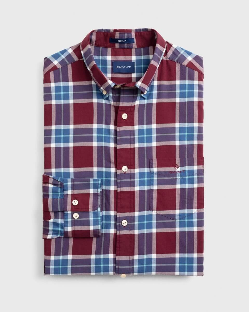 Gant Red & Blue Check Shirt | Davids Of Haslemere
