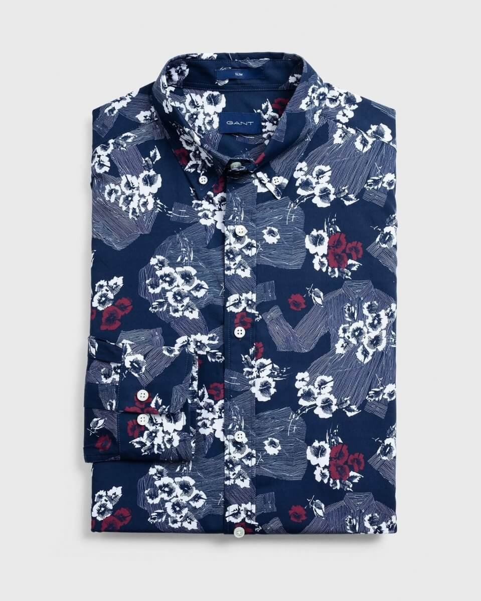 Gant Flower Shirt | Davids Of Haslemere