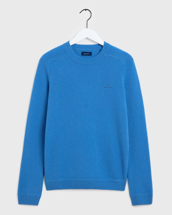 Gant Lambswool Crew Neck Jumper | Davids Of Haslemere