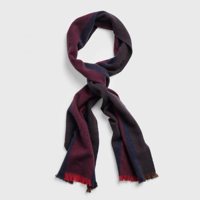 Gant Red Stripe Scarf | Davids Of Haslemere