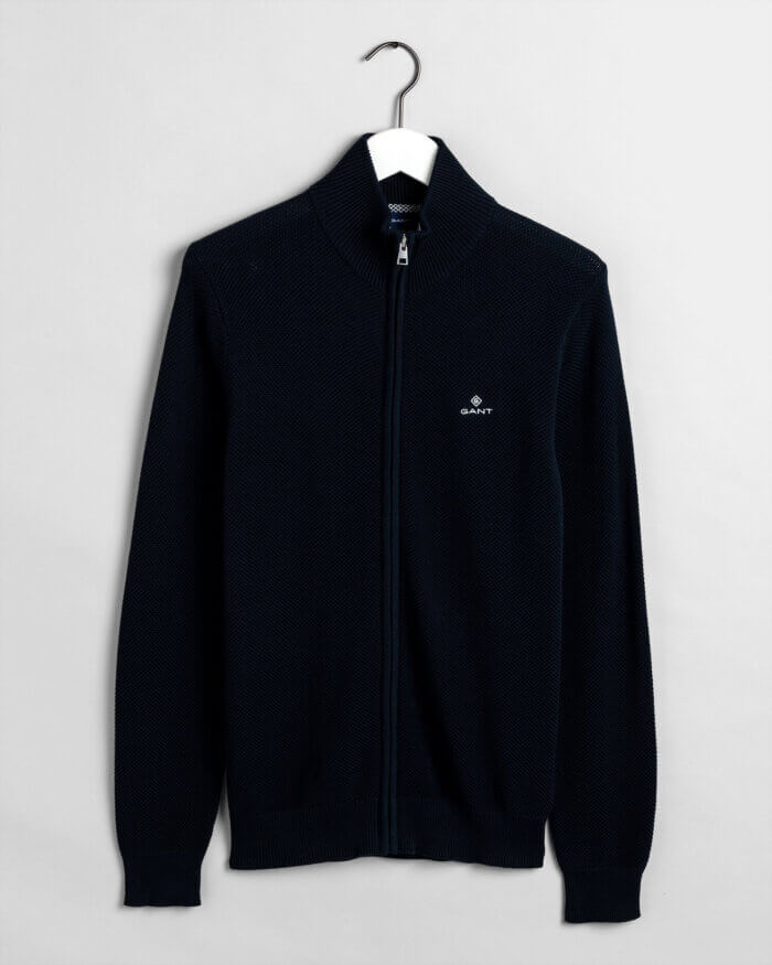 Gant Zipped Cardigan | Davids Of Haslemere