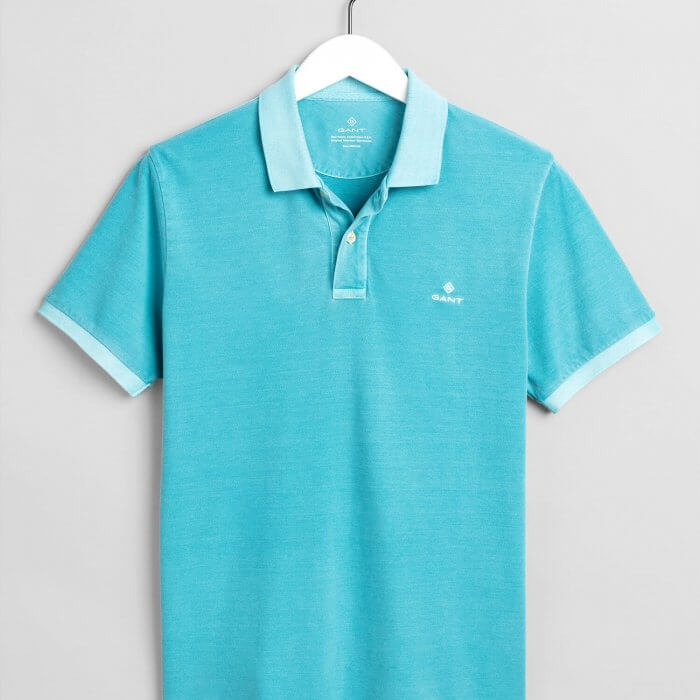 Gant Polo Shirt Aqua | Davids Of Haslemere