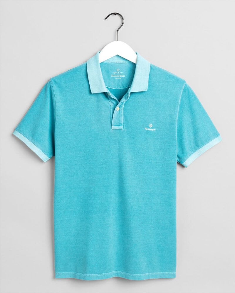 Gant Polo Shirt Aqua | Davids Of Haslemere