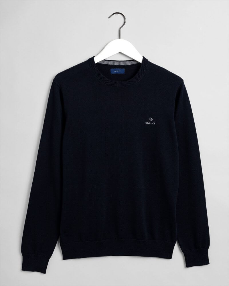 Gant Shetland Crew Sweater Black | Davids Of Haslemere