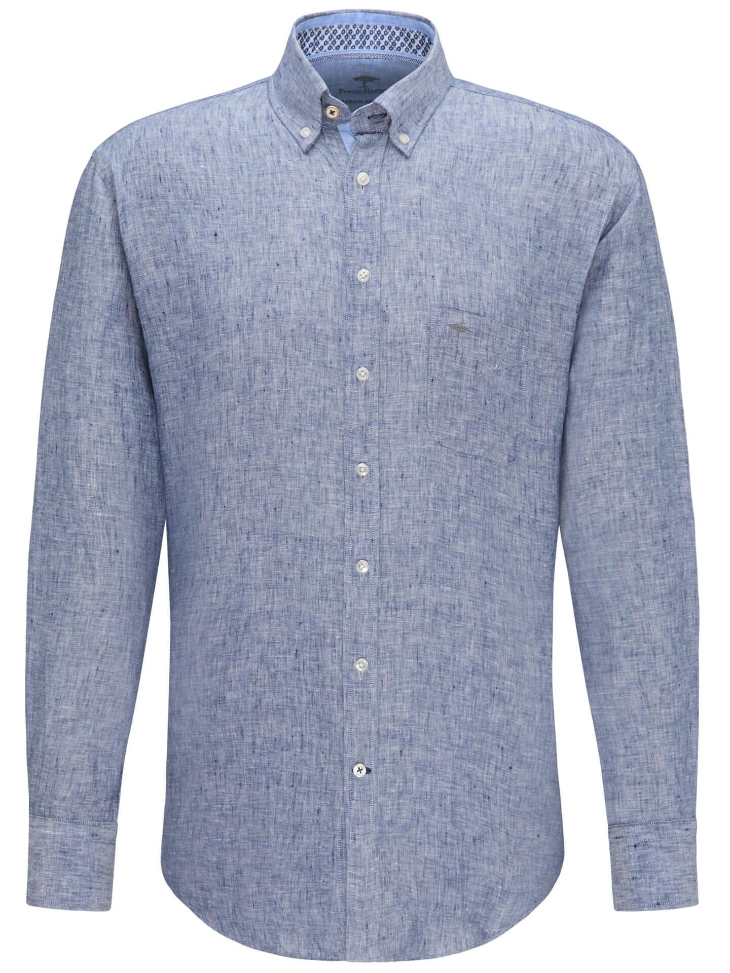 Fynch Hatton Linen Long Sleeve Shirt