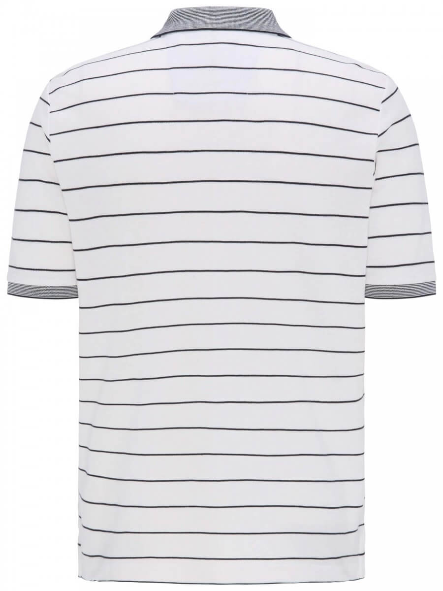 Fynch Hatton Cotton Stripe Polo Shirt | Davids Of Haslemere