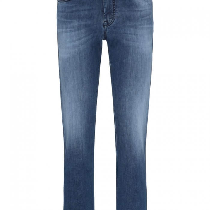 Fynch Hatton Mombasa High Flex Mid Blue Jeans | Davids Of Haslemere