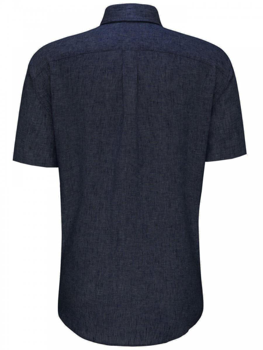 Fynch Hatton Linen Half Sleeve Shirt | Davids Of Haslemere