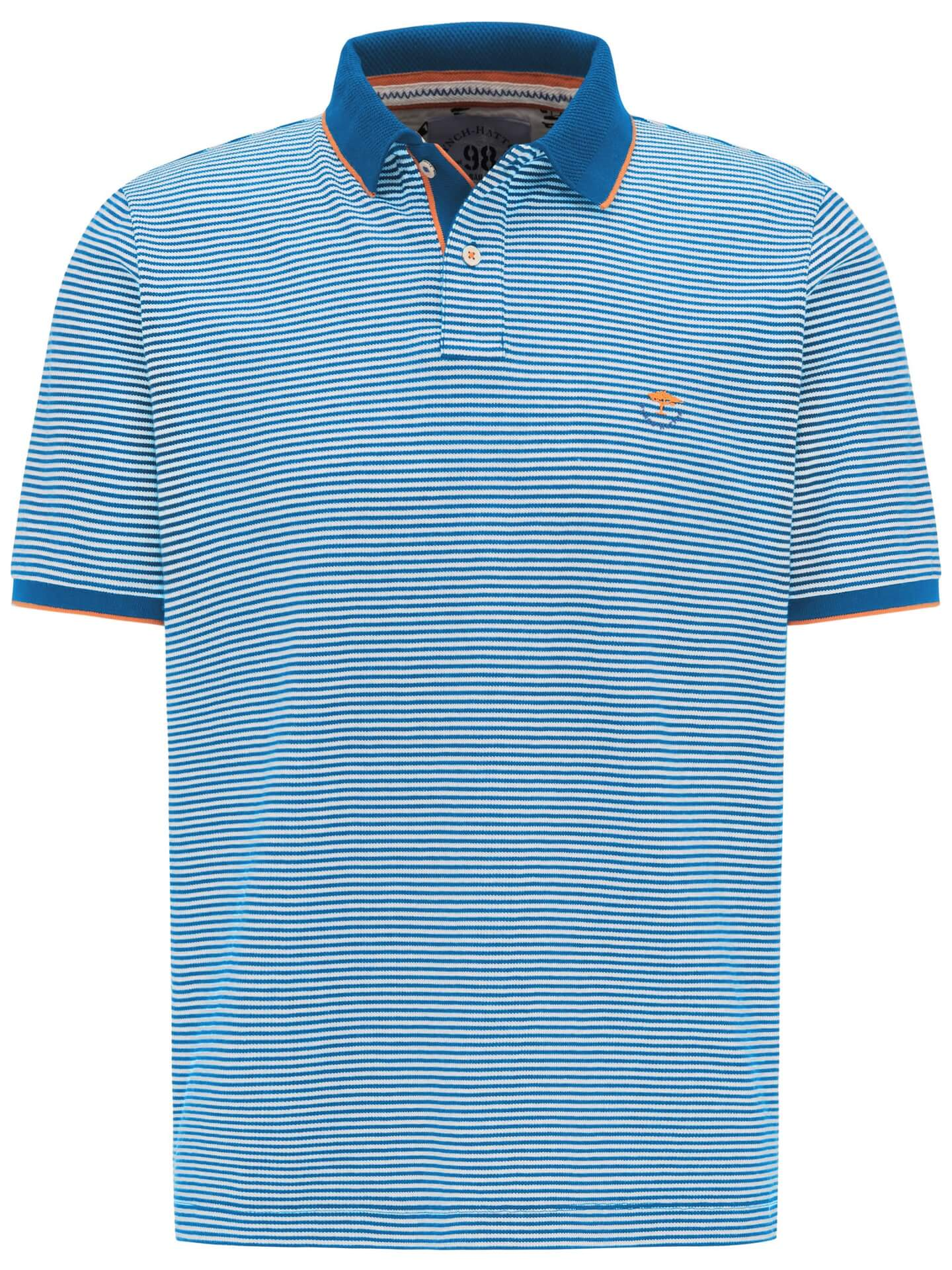 Fynch Hatton Striped Polo Shirt