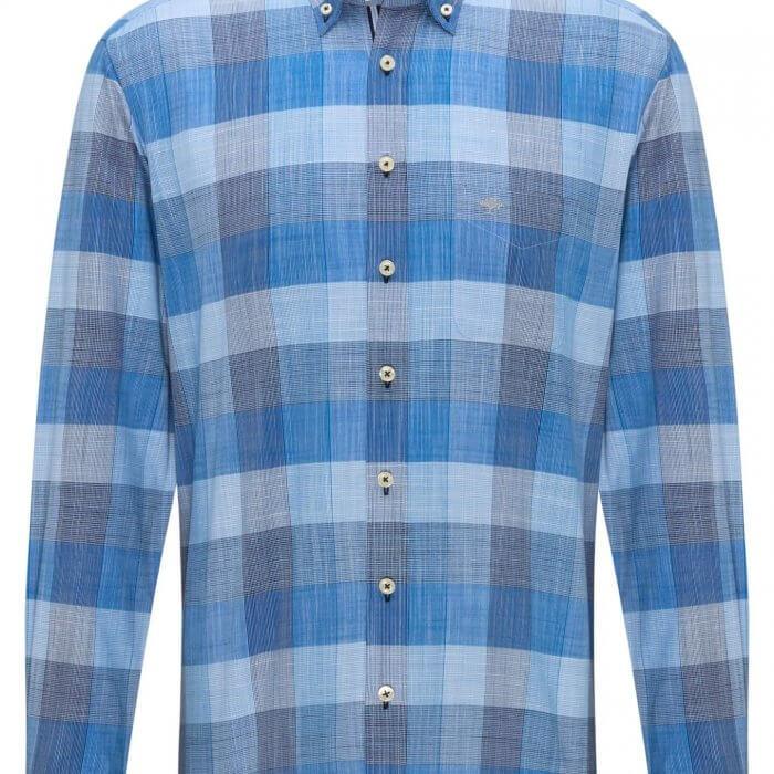 Fynch Hatton Big Check Shirt | Davids Of Haslemere