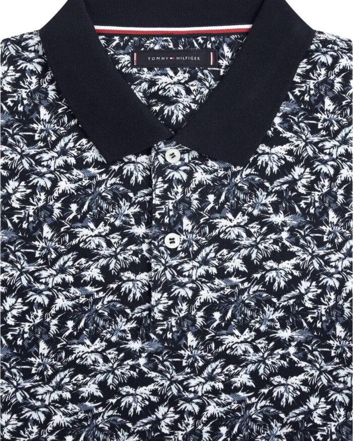Tommy Hilfiger Palm Print Polo | Davids Of Haslemere