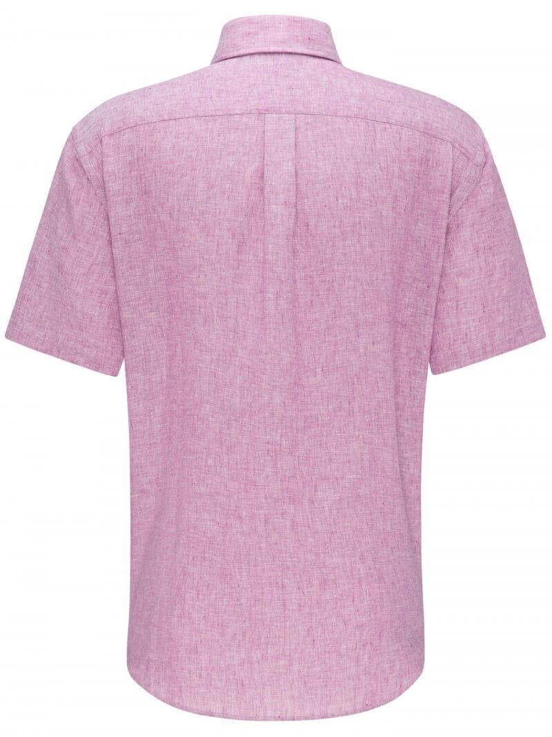 Fynch Hatton Linen Half Sleeve Shirt   Davids Of Haslemere