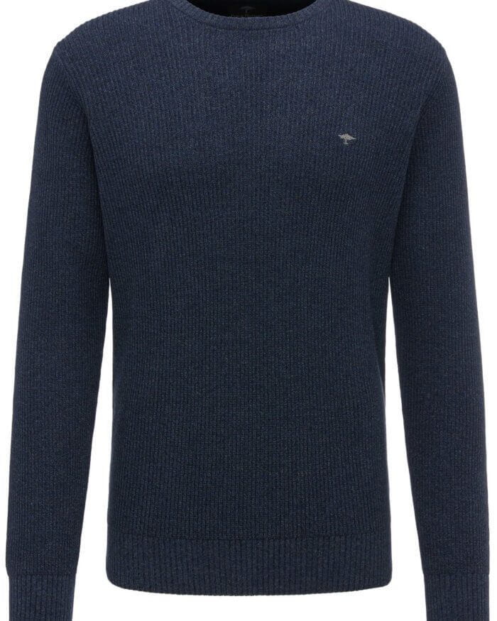 Fynch Hatton O Neck Ribbed Jumper | Davids Of Haslemere