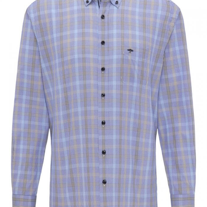 Fynch Hatton Blue Fond Shirt | Davids Of Haslemere