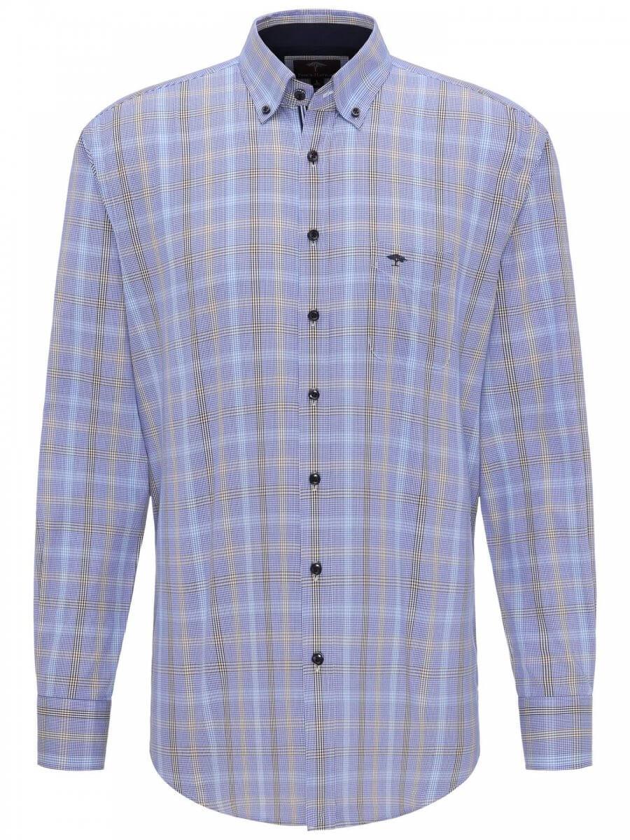 Fynch Hatton Blue Fond Shirt | Davids Of Haslemere