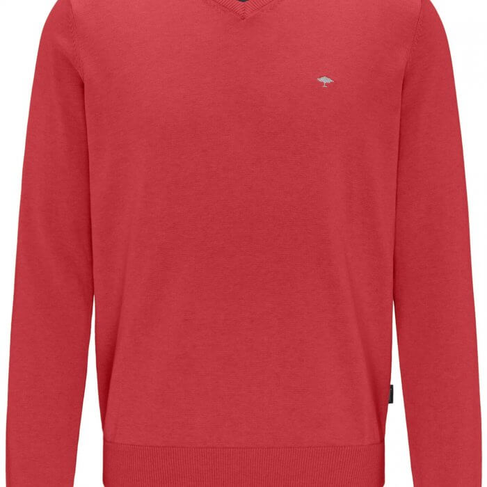 Fynch Hatton V-Neck Cotton Jumper | Davids Of Haslemere