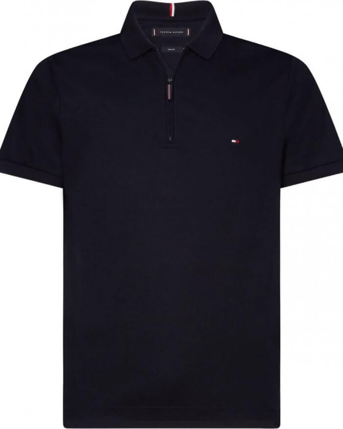 Tommy Hilfiger Half Zip Polo | Davids Of Haslemere