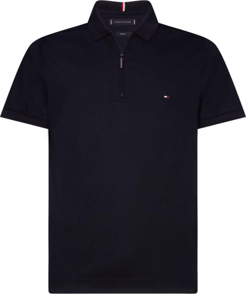Tommy Hilfiger Half Zip Slim Fit Polo