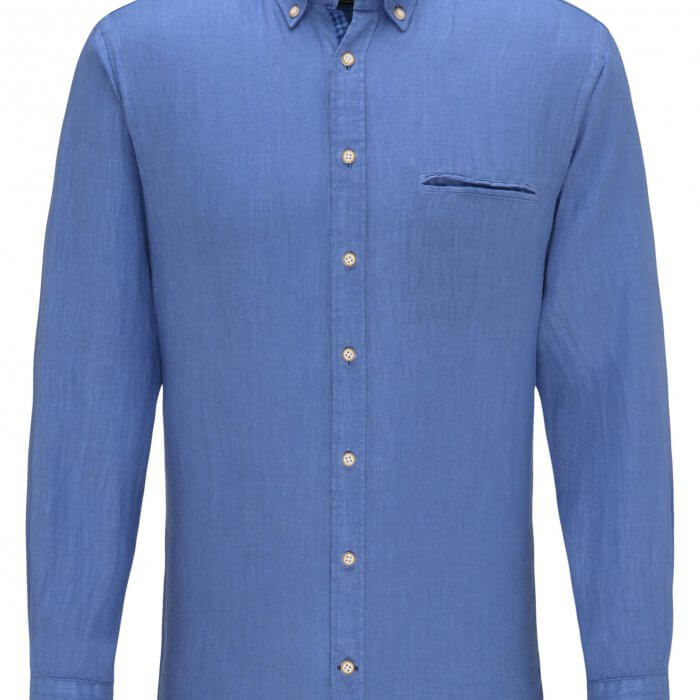 Fynch Hatton Soft Garment Dyed Linen Shirt | Davids Of Haslemere