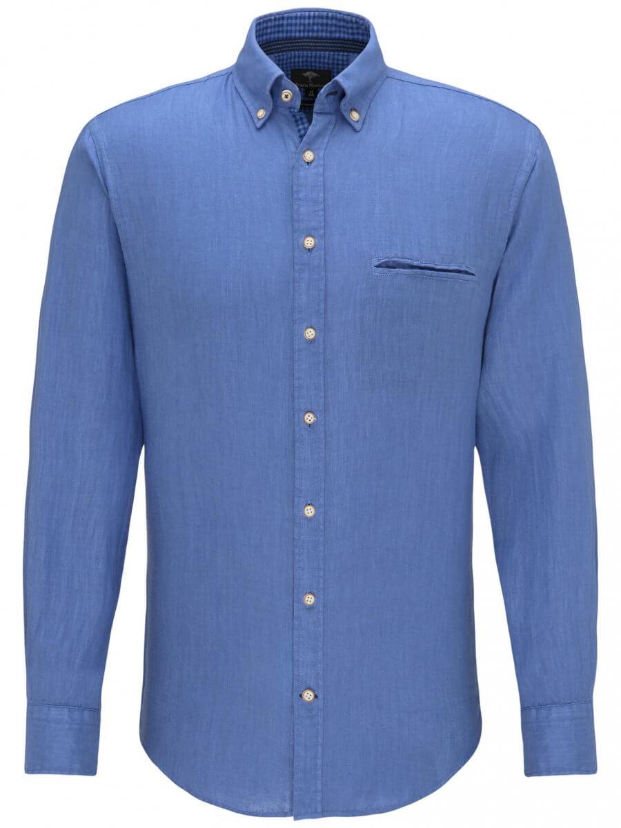 Fynch Hatton Soft Garment Dyed Linen Shirt | Davids Of Haslemere