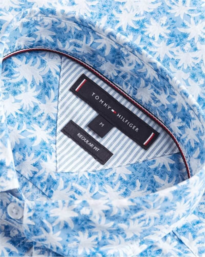 Tommy Hilfiger Palm Leaf Shirt | Davids Of Haslemere