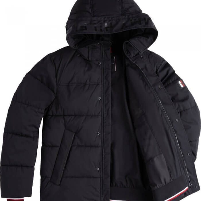 Tommy Hilfiger Stretch Hooded Bomber Jacket | Davids Of Haslemere