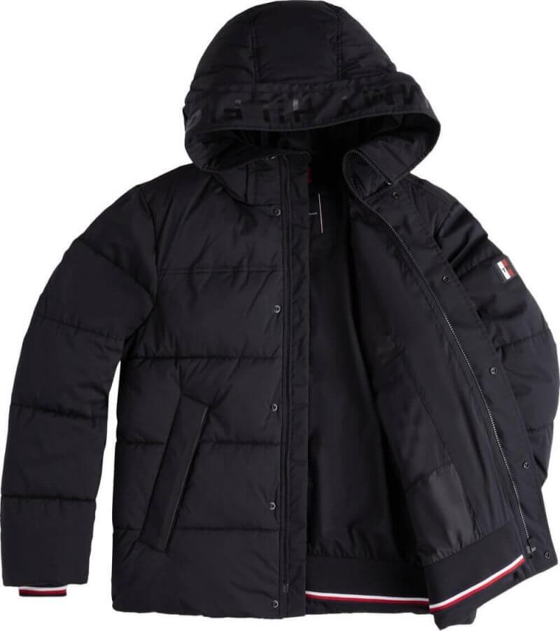Tommy Hilfiger Stretch Hooded Bomber Jacket | Davids Of Haslemere