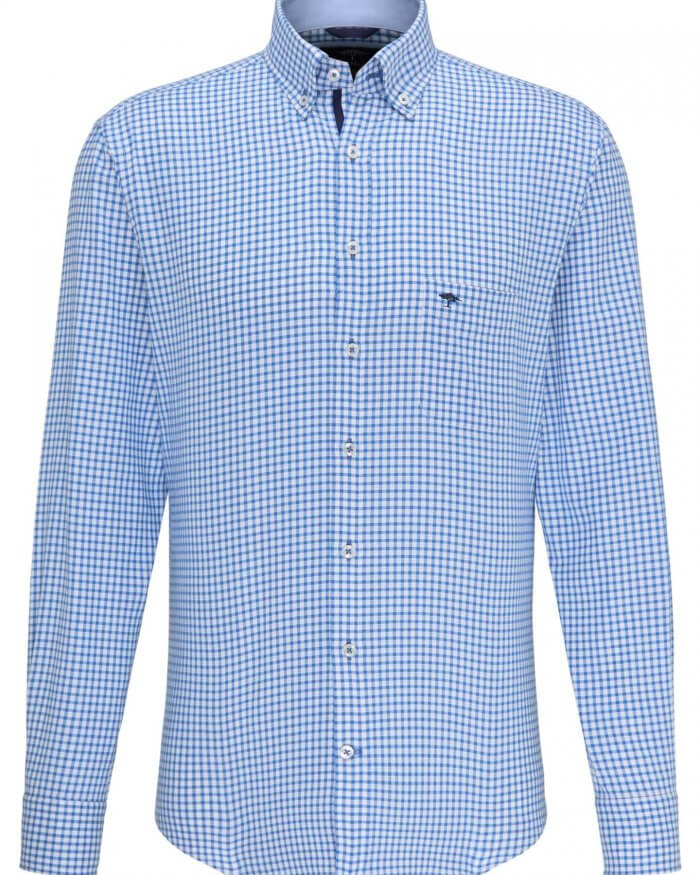 Fynch Hatton Small Check Shirt | Davids Of Haslemere