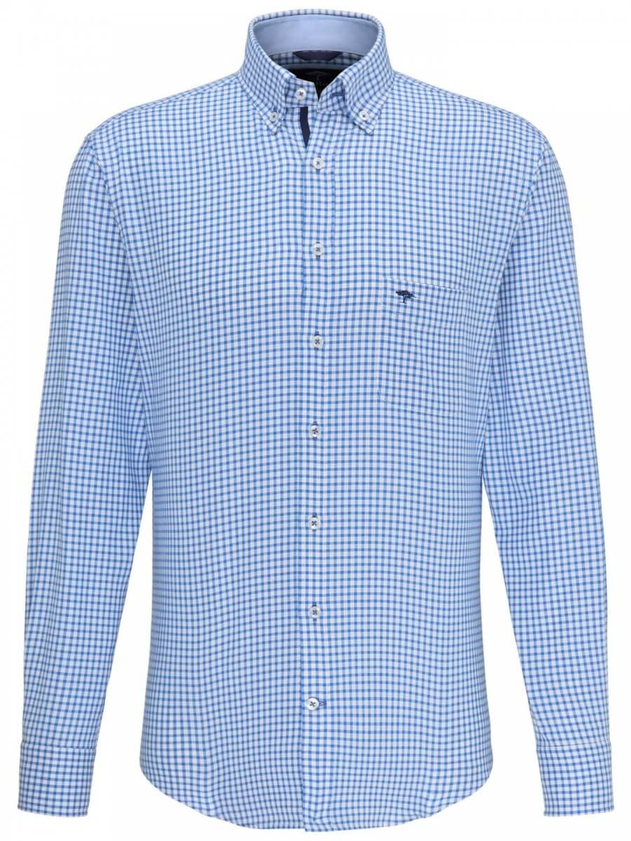 Fynch Hatton Small Check Shirt   Davids Of Haslemere