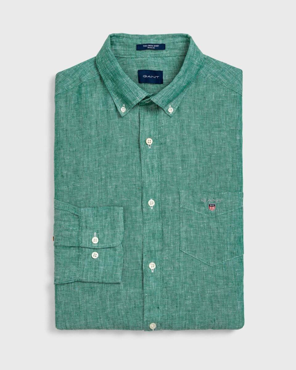 Gant Green Shirt | Davids Of Haslemere