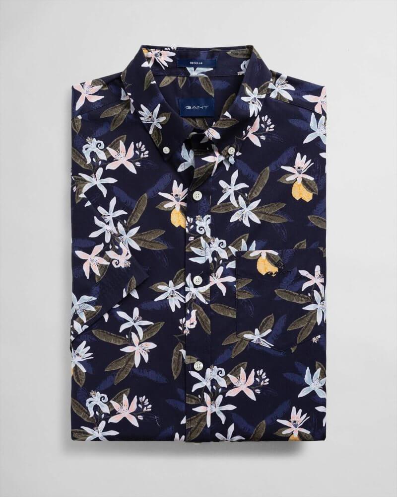 Gant Floral Printed Shirt   Davids Of Haslemere