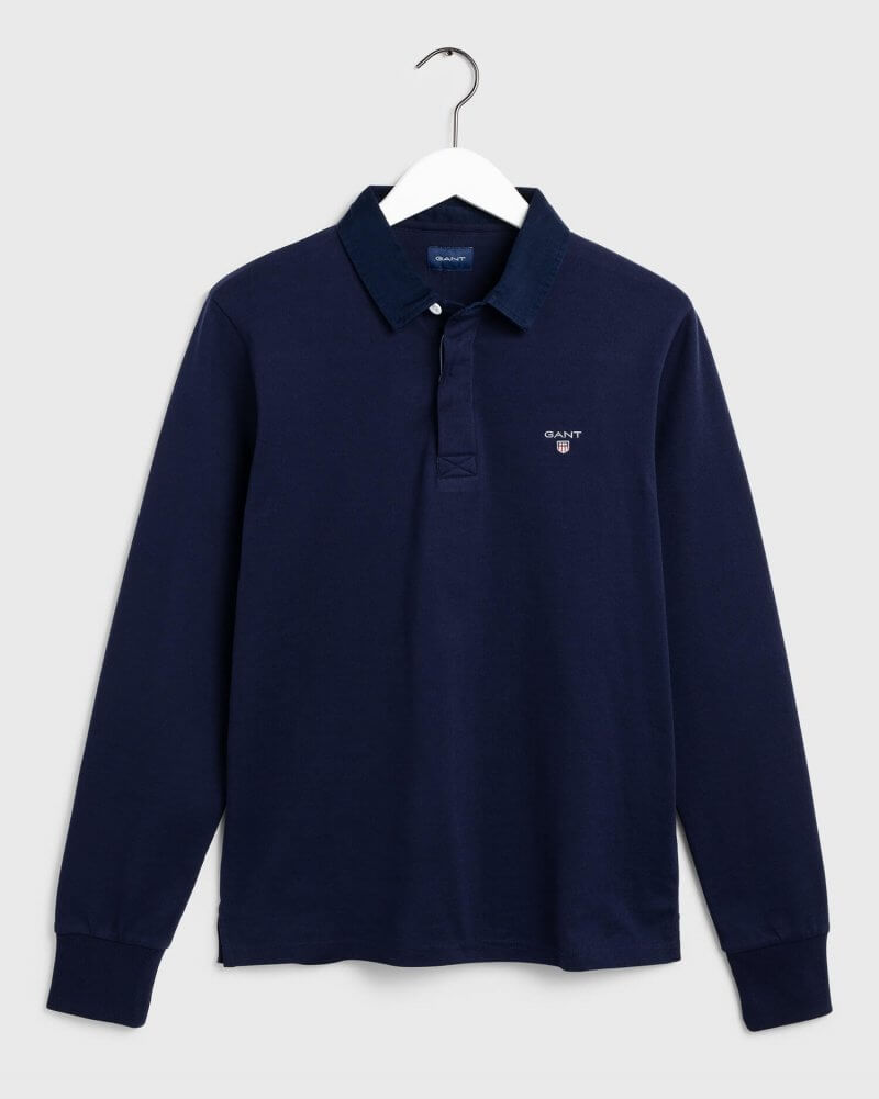 Gant Long Sleeve Polo Shirt | Davids Of Haslemere