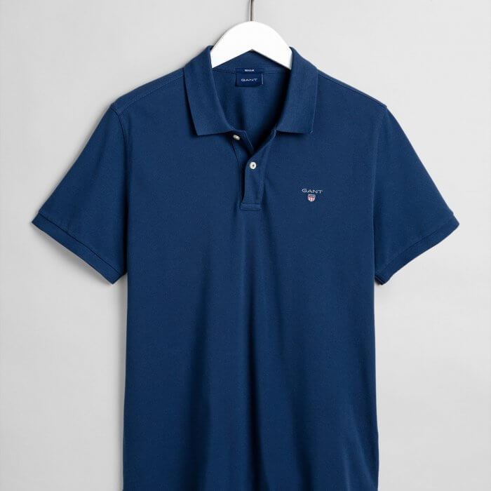 Gant Short Sleeve Polo Shirt | Davids Of Haslemere