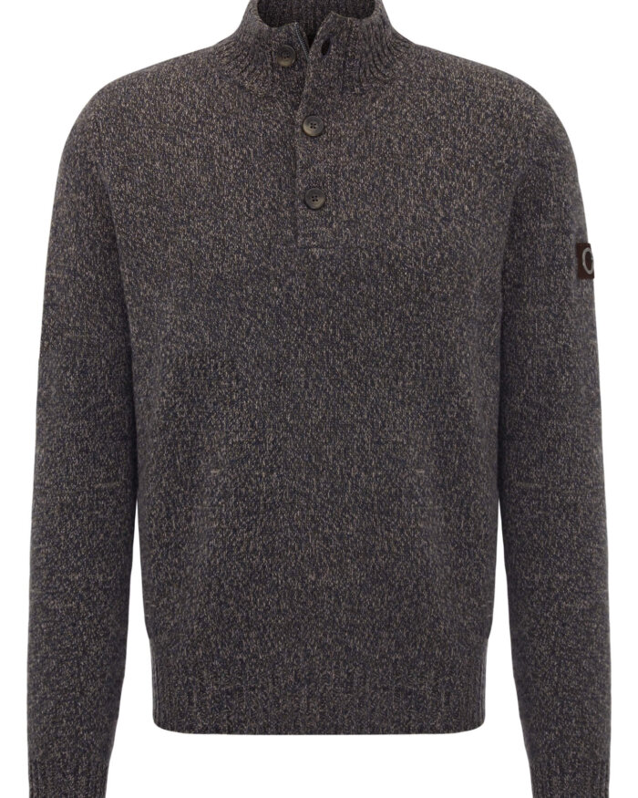 Fynch Hatton Button Up Jumper | Davids Of Haslemere