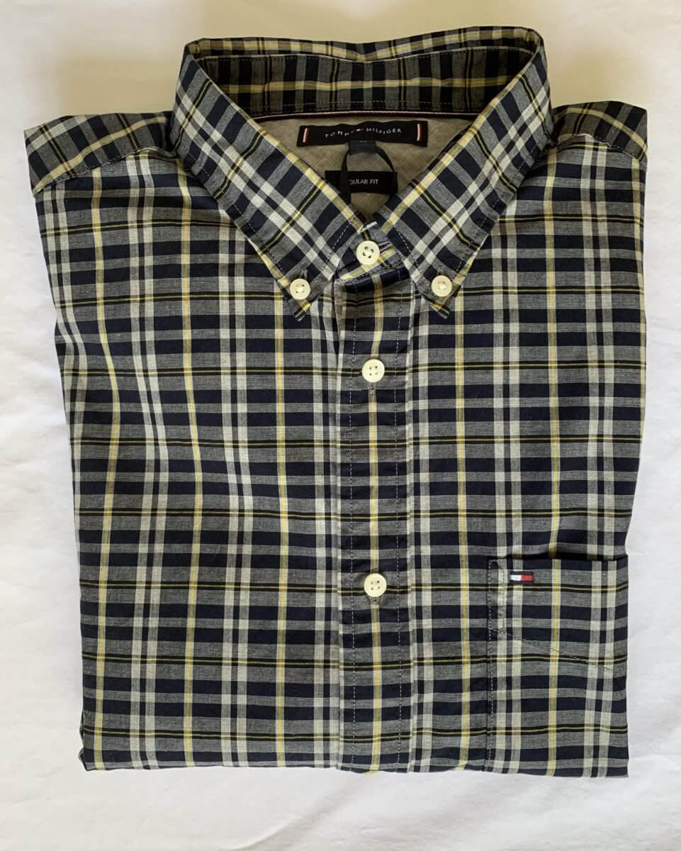 Tommy Hilfiger Regular Fit Windowpane Check Shirt | Davids Of Haslemere