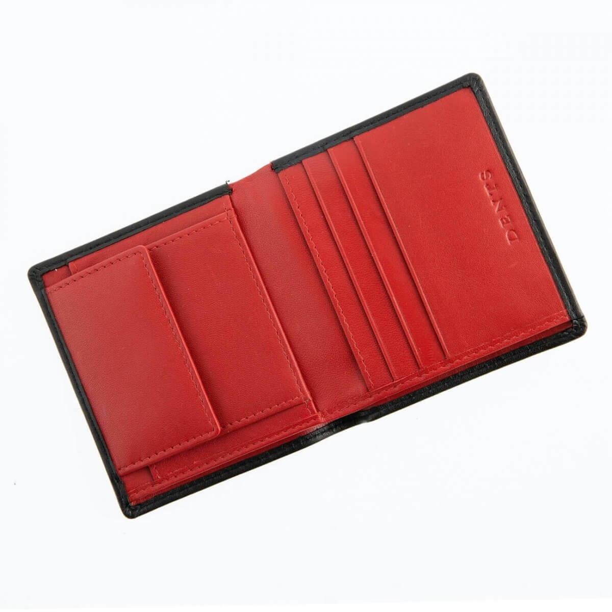 Black & Red Leather Dents Card Holder