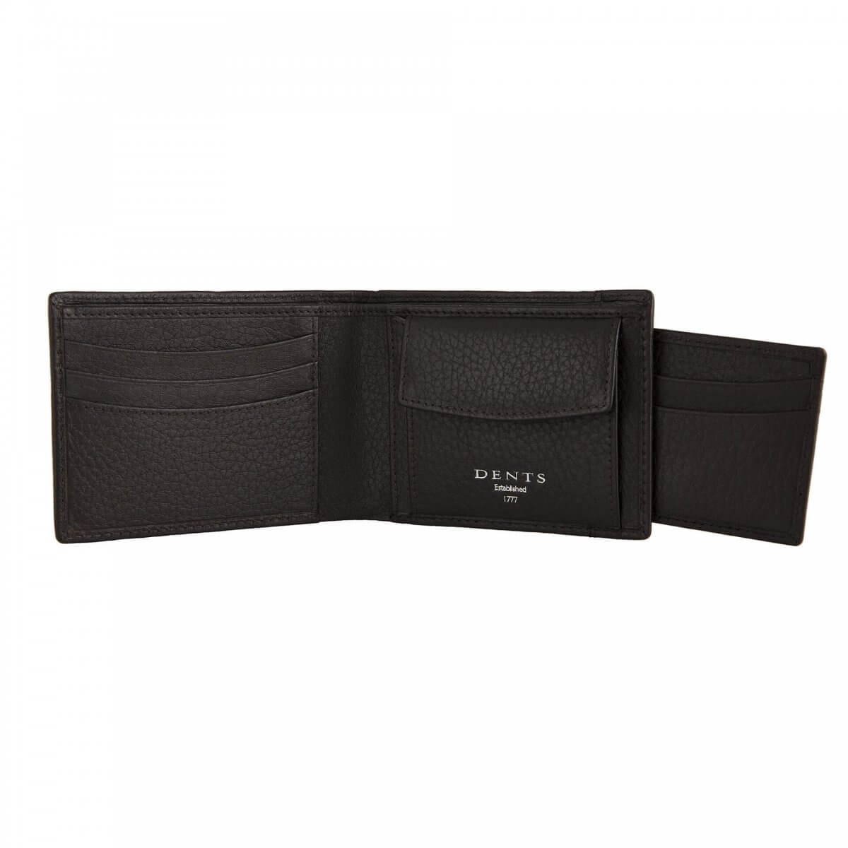 Dents Leather Wallet and Card Holder in Black