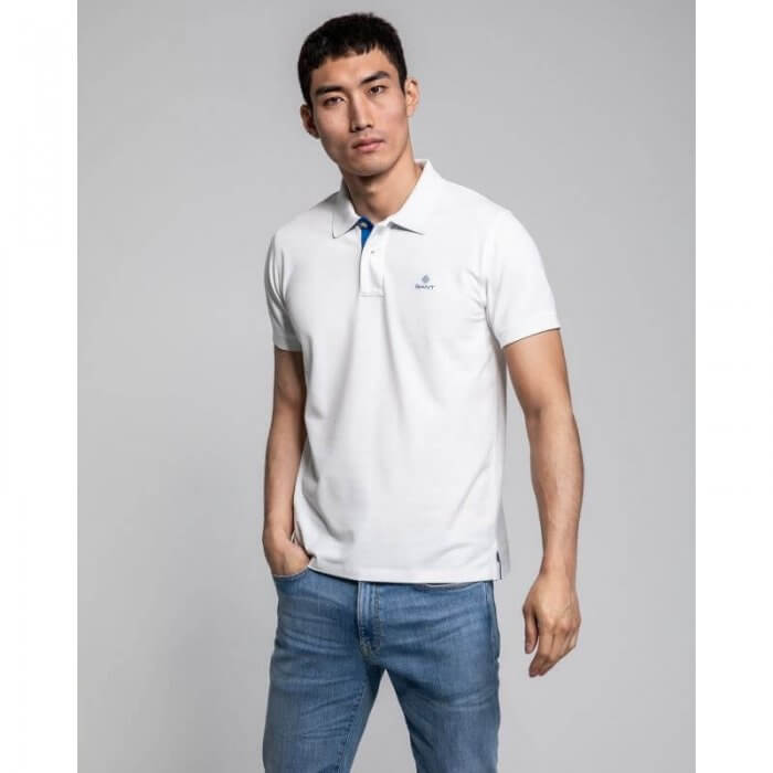 Gant White Rugger Polo